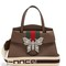 Guccitotem grained-leather bag