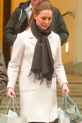 zara kate middleton scarf winter coat white coat