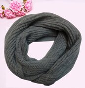 scarf,snood,grey