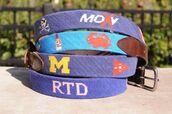 belt,custom needlepoint belts,embroidered belts
