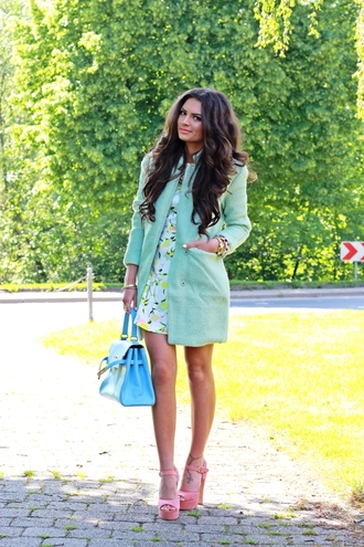 fashionhippieloves coat dress shoes bag jewels