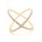 Multi diamond x ring