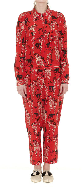 bf58c9747f RED VALENTINO Red Valentino Monkey Print Jumpsuit