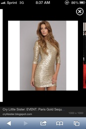 dress,high neck line,gold sequins,bodycon dress,long sleeve dress