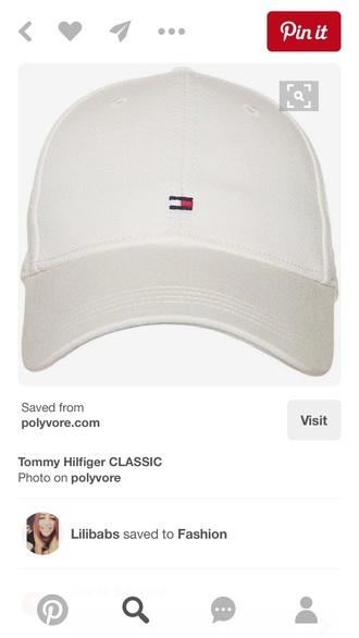 hat cap white sun tommy hilfiger