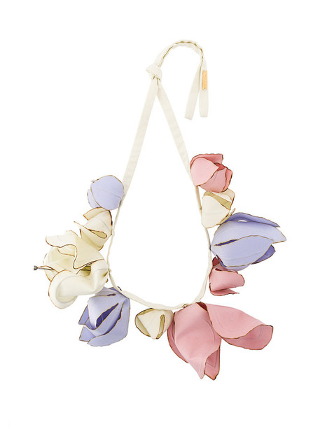 MARNI women statement necklace statement necklace floral cotton jewels