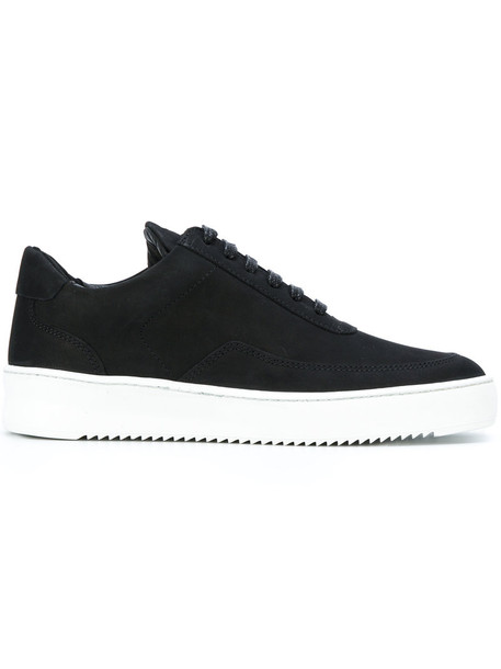 Filling Pieces women sneakers low top sneakers leather suede black shoes