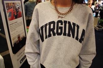 sweater virginia grey america style fashion grey sweater