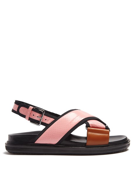 MARNI snake sandals leather pink shoes