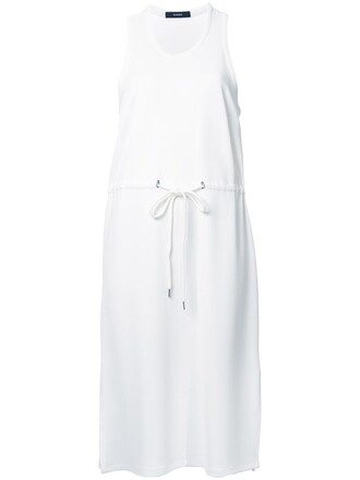 dress shirt dress t-shirt dress women spandex drawstring white