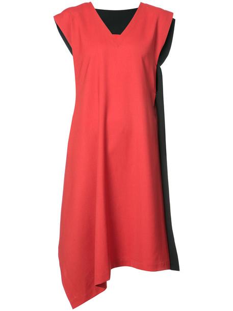 Issey Miyake dress women wool red