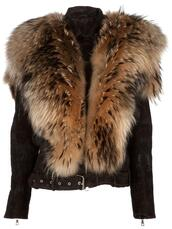 jacket,black,fur,leather jacket