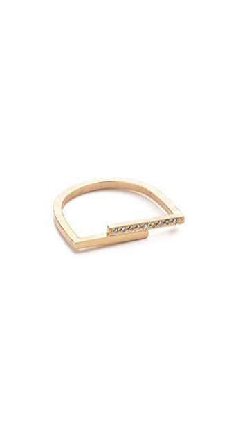 Zoe Chicco ring clear gold jewels