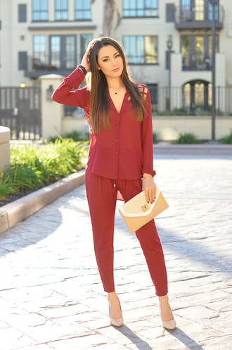 hapa time blogger blouse pants jewels shoes bag