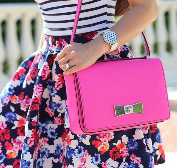skirt clothes trends floral bag