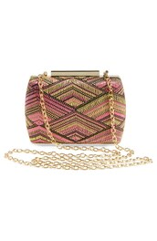 bag,crossbody bag,chain bag,raffia