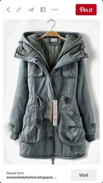 coat green jacket jacket winter coat warm green hipster