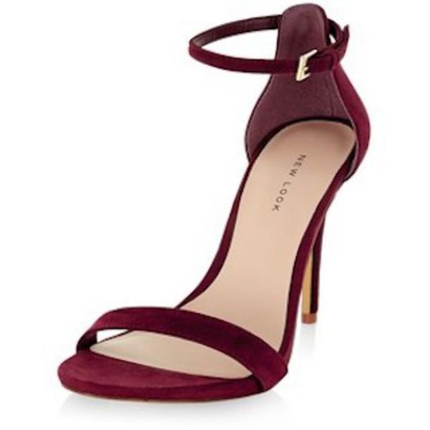 8edb2a96245 shoes burgundy sandal heels high heel sandals dark red