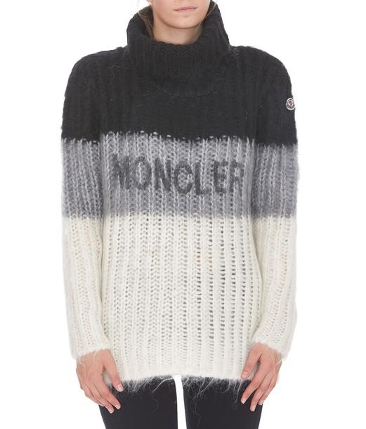 moncler jumper white black grey sweater