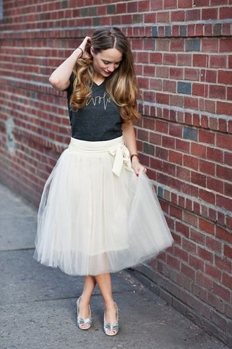 white fashion white skirt tulle skirt tule skirt