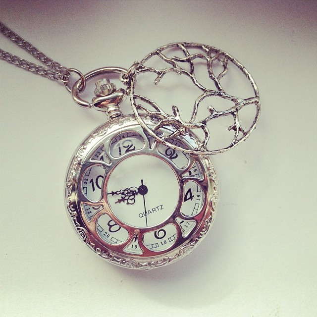 Free tree of life pocket watch necklace with all...
