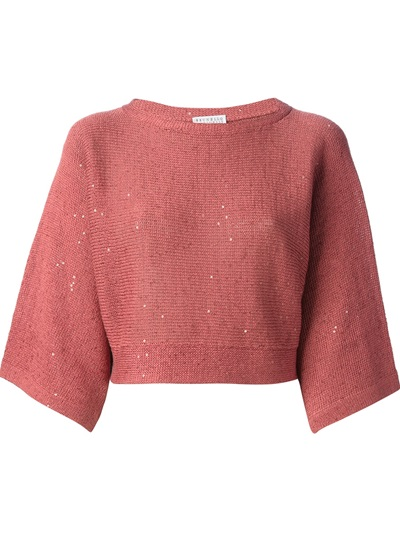 Brunello Cucinelli Cropped Sweater - Stefania Mode - Farfetch.com