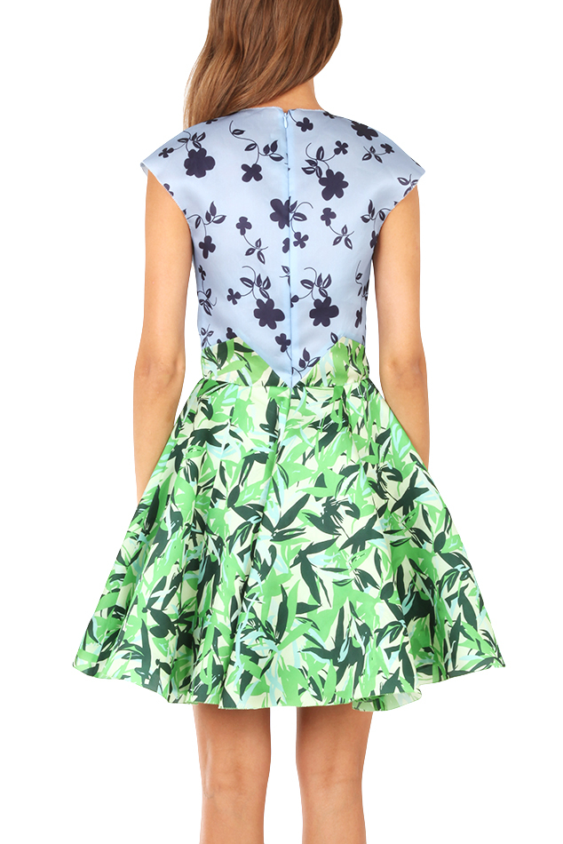 Elle Sasson Green Holly Dress
