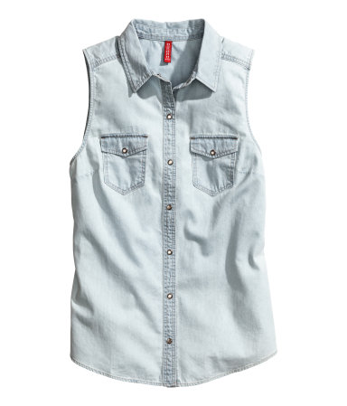 H&M Sleeveless Denim Shirt $24.95