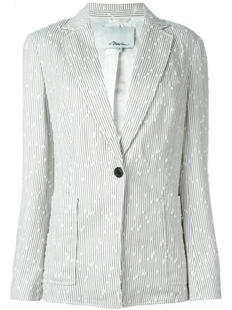 blazer women nude cotton silk jacket