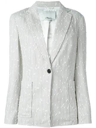 blazer women nude cotton silk jacket