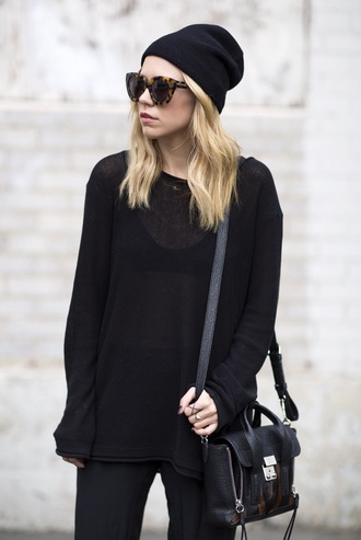 sweater black sheer