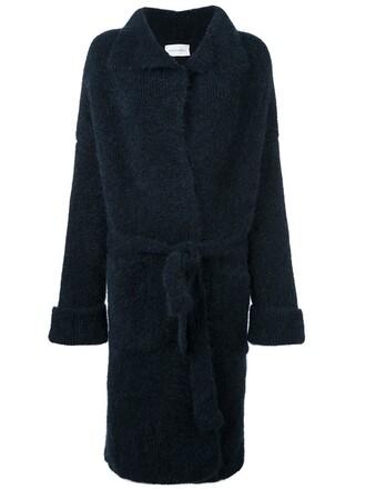 coat women spandex blue wool