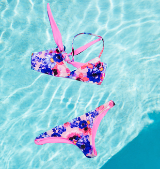 swimwear bikini swimsuit floral floral bikini