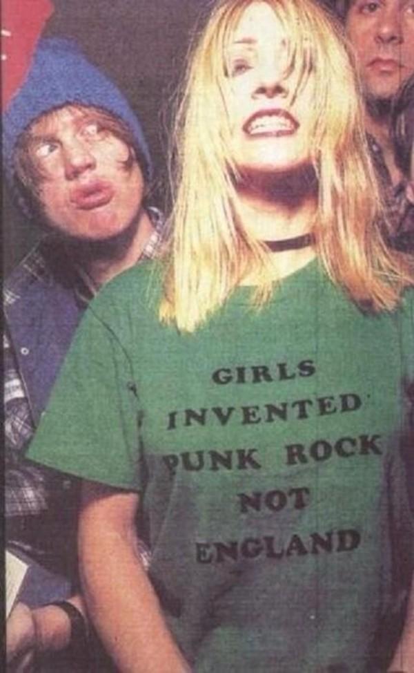 punk feminism t-shirt punk rock rock grunge band t-shirt england style