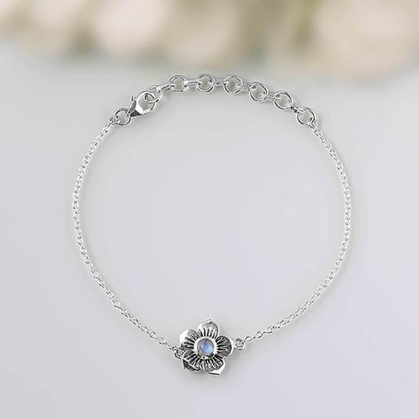 Jewels Moonstone Bracelet Moon Bracelet Moonstone Sterling Silver