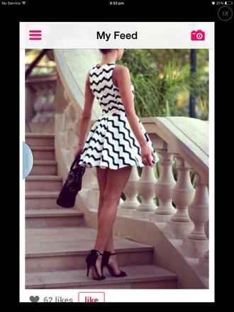 black and white aztec itsmeez short dress dress