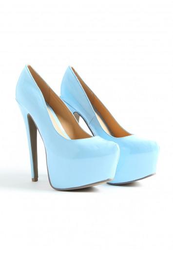 Gretta Super High Platform Patent Shoes - footwear - missguided
