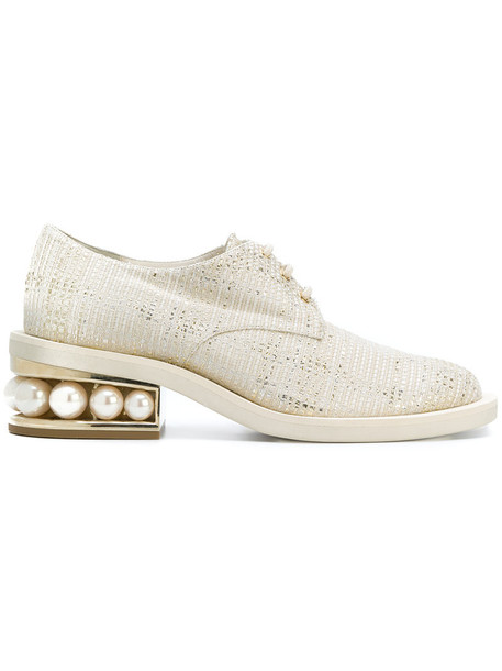 Nicholas Kirkwood women pearl shoes leather white cotton