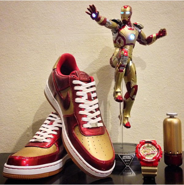 the latest 08e0c 35e7f ... Nike Air Force 1 AF1 Downtown LTH QS Ironman Gold Red 573979-700 Rare  Limited . ...