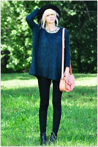 sweater blue jumper warm tumblr clothes tumblr long knitted sweater knitwear comfy fashion