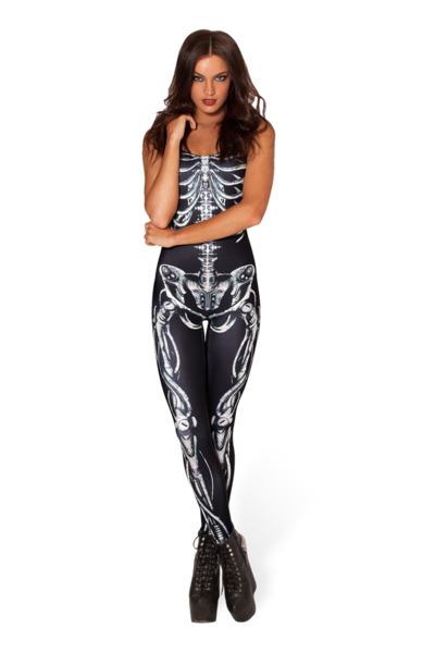 Mechanical Bone Catsuit › Black Milk Clothing