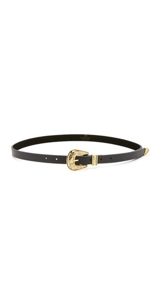 baby belt gold black