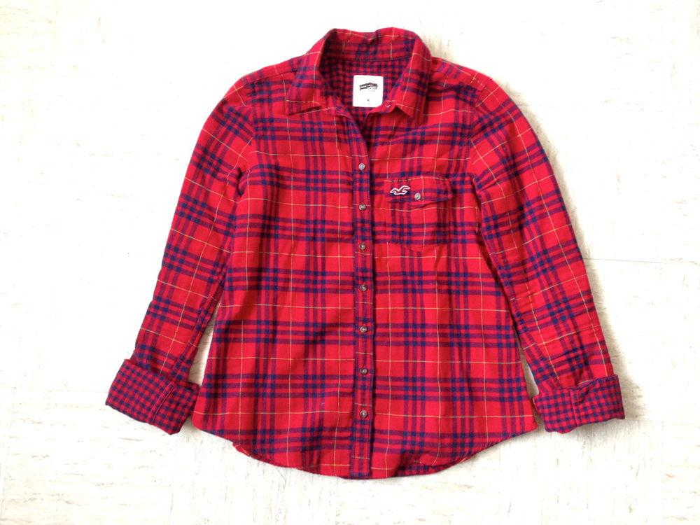Hollister Red Plaid Shirt Hollister Shirt Plaid Red Navy