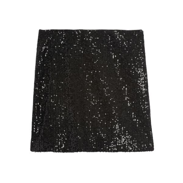 Banana Republic Women's Sequin Mini Skirt Black Sequin Regular Size 2
