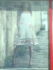 dress,a line dress,polka dots dress,summer dress