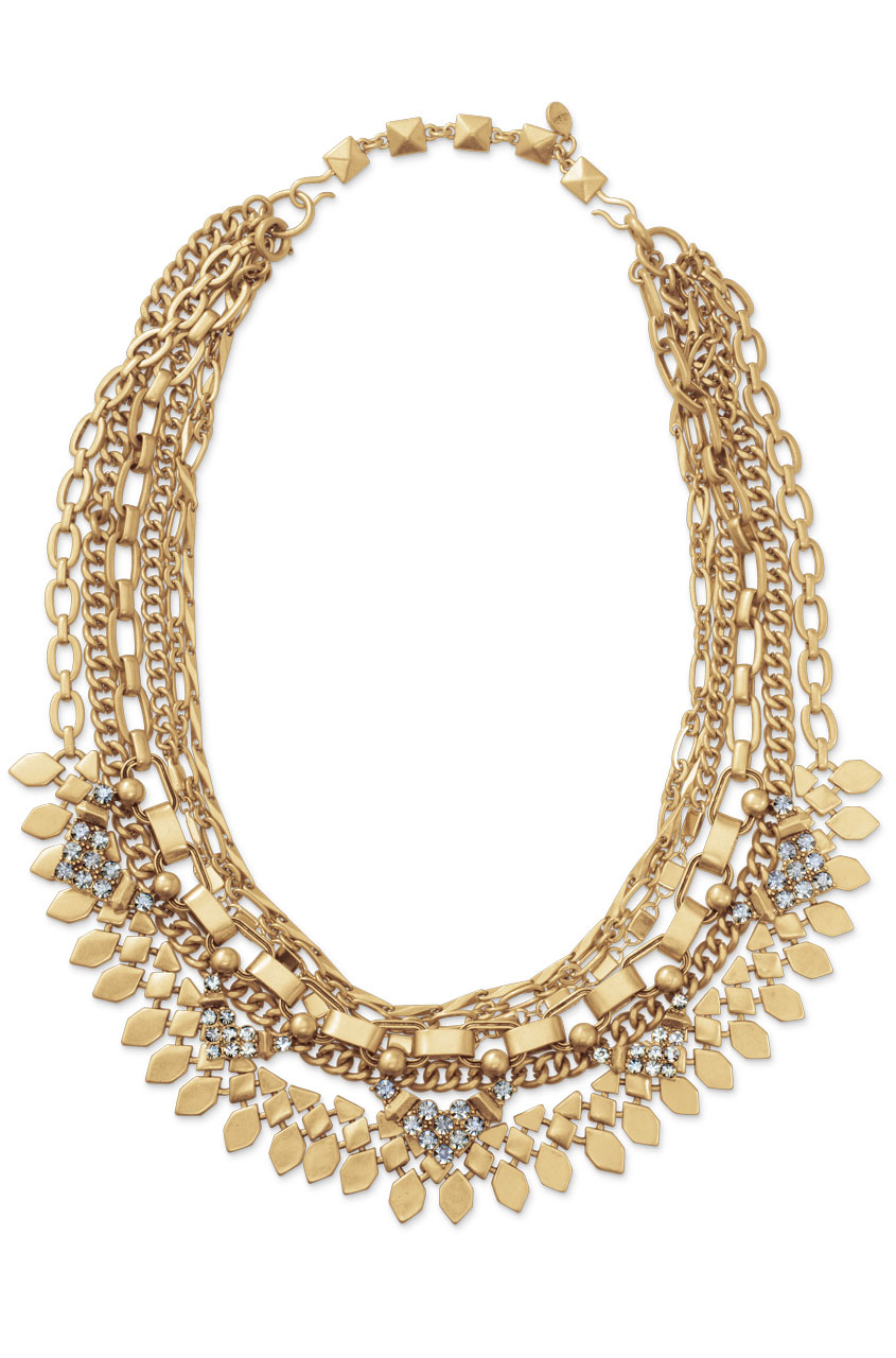 Layered Chain Gold Statement Necklace | Sutton Necklace | Stella & Dot