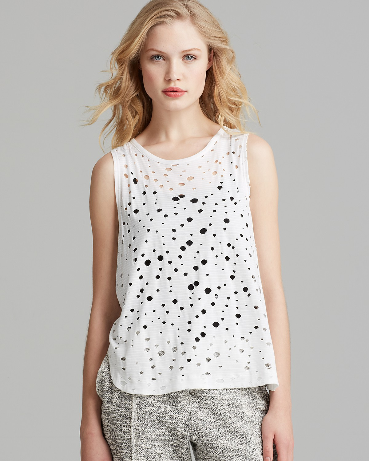 twenty tees Tank - Rippled Perforated Muscle | Bloomingdale's