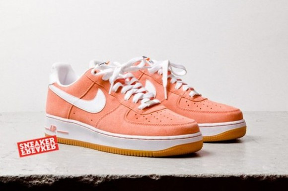 coral salmon salmon pink shoes salmon shoes nike nike air nike sneakers nike air force nike air force one nike air force 1