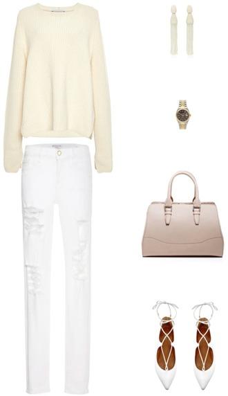 krystal schlegel blogger sweater jewels bag jeans