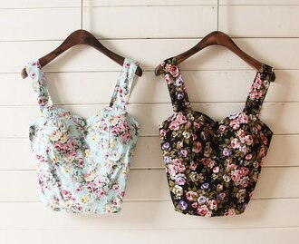 tank top strap bandeau bustier bandeau floral tank top summer outfits
